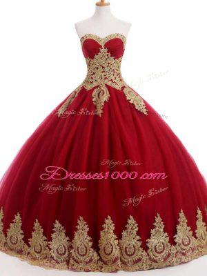 Deluxe Wine Red Ball Gowns Organza and Taffeta and Chiffon Sweetheart Sleeveless Ruffles and Sequins Floor Length Lace Up Sweet 16 Dress