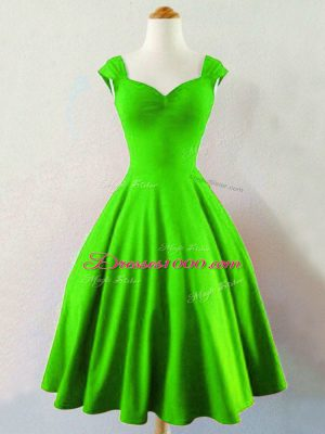 Taffeta Straps Sleeveless Lace Up Ruching Wedding Guest Dresses in