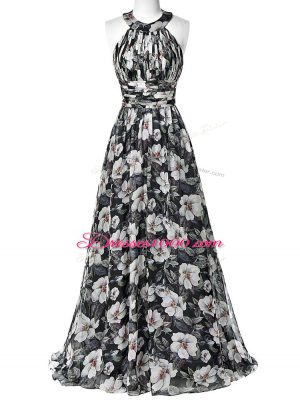 Custom Made Sleeveless Ruching Zipper Prom Dress