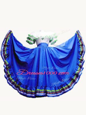 Best Selling Floor Length Lace Up Sweet 16 Quinceanera Dress Royal Blue for Military Ball and Sweet 16 and Quinceanera with Ruffled Layers