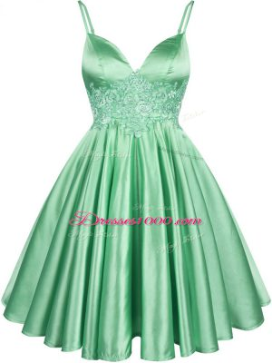 Inexpensive Sleeveless Elastic Woven Satin Lace Up Bridesmaids Dress for Prom and Party and Wedding Party