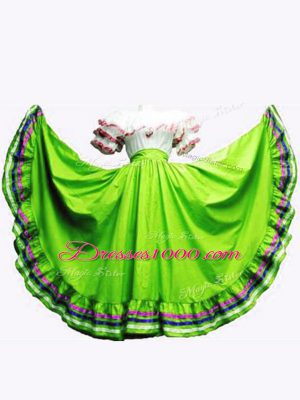 High Class Off The Shoulder Short Sleeves Quinceanera Gown Floor Length Ruffled Layers Taffeta