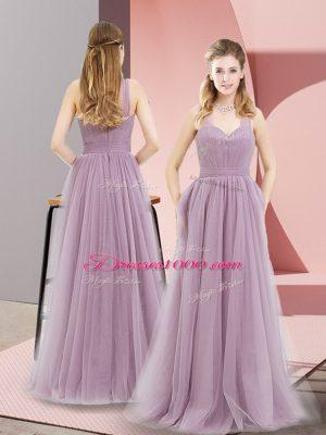 Lilac Halter Top Zipper Ruching Prom Dress Sleeveless