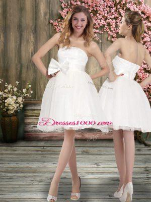 Off The Shoulder Sleeveless Backless Wedding Dress White Chiffon