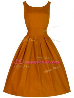 Discount Sleeveless Lace Up Knee Length Ruching Wedding Guest Dresses