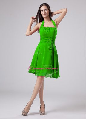 Sleeveless Knee Length Ruching Zipper Mother Dresses