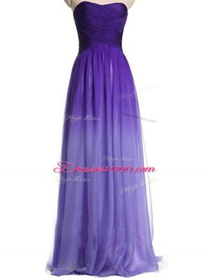 New Arrival Floor Length Empire Sleeveless Multi-color Dress for Prom Lace Up