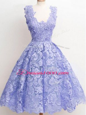 Graceful Straps Sleeveless Lace Damas Dress Lace Zipper