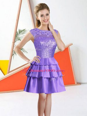 Bateau Sleeveless Taffeta Wedding Party Dress Beading and Lace Backless