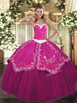 Sleeveless Appliques and Embroidery Lace Up Sweet 16 Quinceanera Dress
