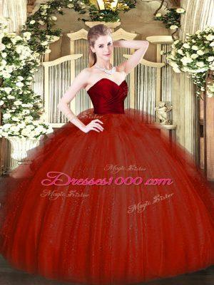 Sleeveless Ruffles Zipper Ball Gown Prom Dress