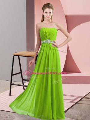 Perfect Floor Length Empire Sleeveless Homecoming Dress Lace Up