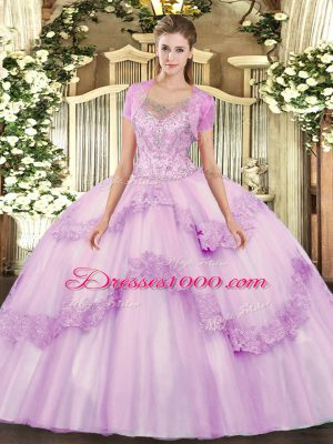 Flirting Sleeveless Clasp Handle Floor Length Beading and Appliques Sweet 16 Dress