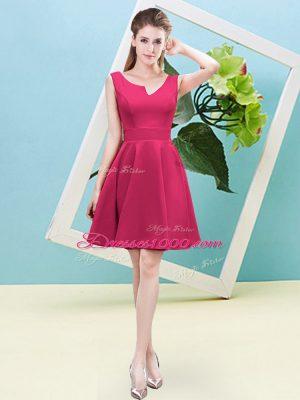 Artistic Asymmetric Sleeveless Satin Bridesmaid Gown Ruching Zipper
