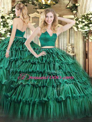 Adorable Sleeveless Zipper Floor Length Ruffled Layers Quinceanera Gowns