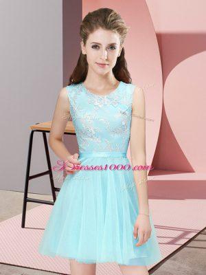 Super Sleeveless Lace Side Zipper Court Dresses for Sweet 16