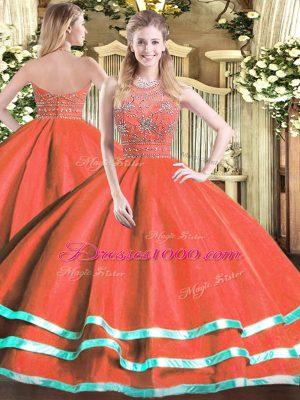 Halter Top Sleeveless Tulle Ball Gown Prom Dress Beading Zipper