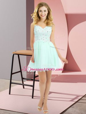 Custom Fit Sleeveless Side Zipper Beading and Lace Vestidos de Damas