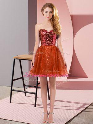 Excellent Sleeveless Sequins Zipper Party Dress for Girls