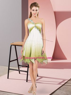 Multi-color Sleeveless Beading Asymmetrical Dress for Prom