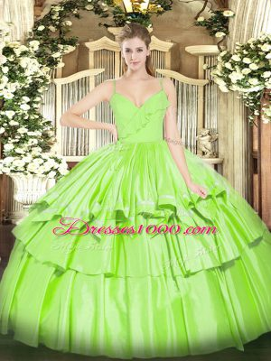 Smart Sleeveless Taffeta Zipper Sweet 16 Dresses for Military Ball and Sweet 16 and Quinceanera