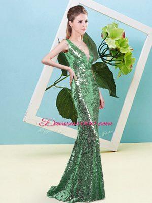 New Style Sleeveless Sequins Zipper Dress for Prom