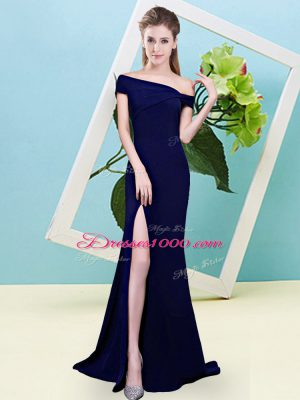 Elastic Woven Satin Sleeveless Floor Length Vestidos de Damas and Ruching