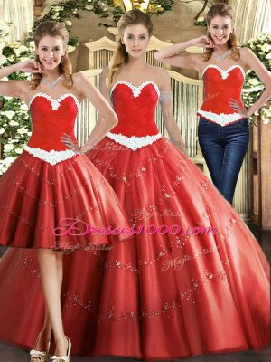 Beauteous Tulle Sleeveless Floor Length Ball Gown Prom Dress and Beading