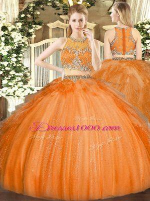 Super Sleeveless Zipper Floor Length Beading Quinceanera Dresses