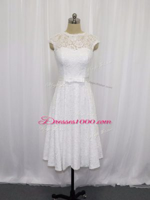 Wonderful Sleeveless Lace and Belt Lace Up Wedding Gowns