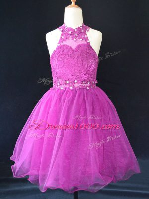Sleeveless Beading and Lace Lace Up Flower Girl Dresses for Less