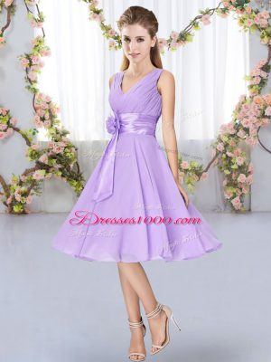 Fabulous Sleeveless Hand Made Flower Lace Up Court Dresses for Sweet 16