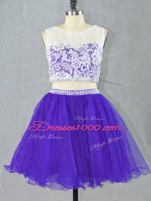 Custom Made Sleeveless Lace and Appliques Zipper Celebrity Style Dress