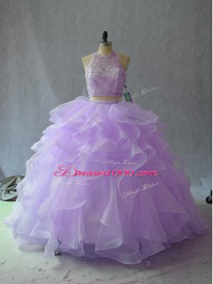 Adorable Sleeveless Backless Beading and Ruffles Sweet 16 Dress