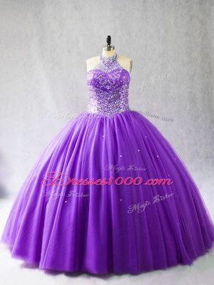 Sleeveless Beading Lace Up Sweet 16 Quinceanera Dress