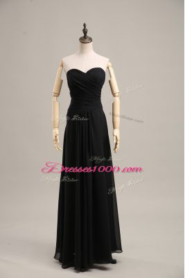 Black Homecoming Dress Prom and Party and Military Ball with Ruching Sweetheart Sleeveless Zipper