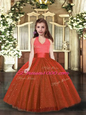 Sleeveless Ruching Lace Up Little Girls Pageant Dress Wholesale