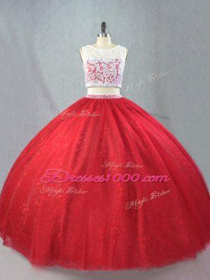 Sleeveless Zipper Floor Length Beading and Appliques Sweet 16 Dresses