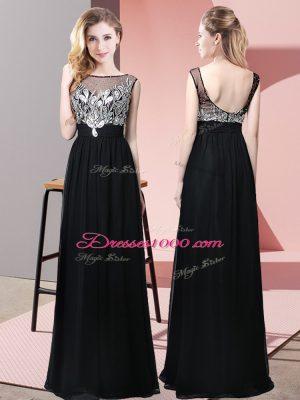Sleeveless Beading Backless Prom Dresses