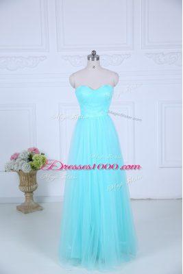 Exquisite Sleeveless Ruching Zipper Bridesmaids Dress