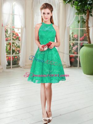 Clearance Knee Length A-line Sleeveless Turquoise Evening Dress Zipper