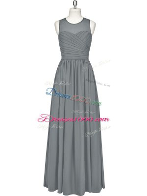 Graceful Sleeveless Ruching Zipper Prom Dress