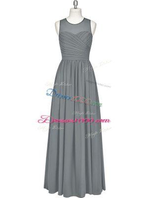 Graceful Sleeveless Ruching Zipper Prom Dress