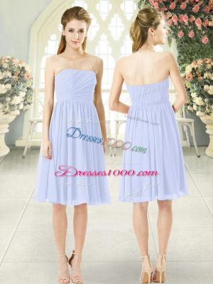 Custom Designed Baby Blue Sleeveless Chiffon Side Zipper Homecoming Dress for Prom and Party