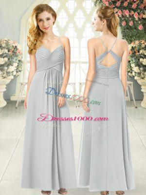 Exquisite Sleeveless Ruching Criss Cross Homecoming Dress