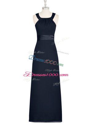 Latest Black Straps Neckline Belt Sleeveless Zipper