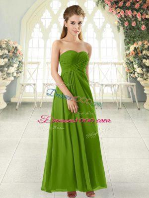 Sweetheart Zipper Ruching Juniors Party Dress Sleeveless