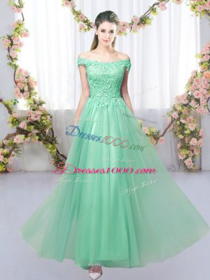 Sleeveless Lace Up Floor Length Lace Court Dresses for Sweet 16