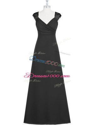 Colorful Floor Length Column/Sheath Sleeveless Black Prom Evening Gown Zipper