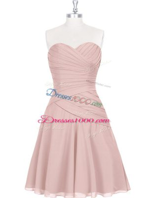 Stylish Pink Sleeveless Zipper Prom Dresses for Prom and Party